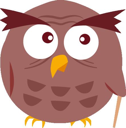 Illustration de la mascotte hibou de L'Hirondelle